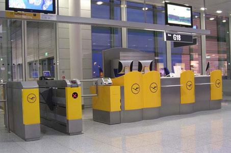 Lufthansa's self-boarding gates at Munich Airport