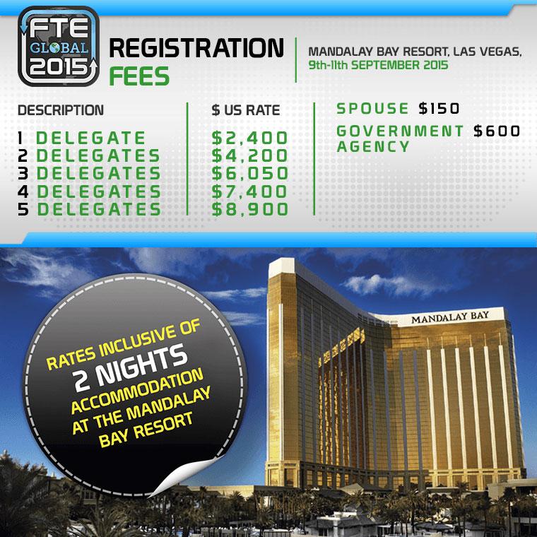FTE Global 2015 registration fees