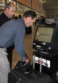 Austin-Bergstrom International Airport self-tagging