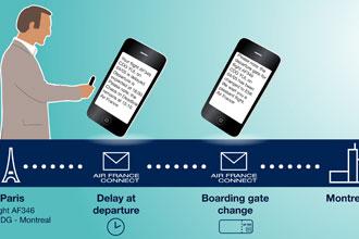 Air France's mobile-based customer service