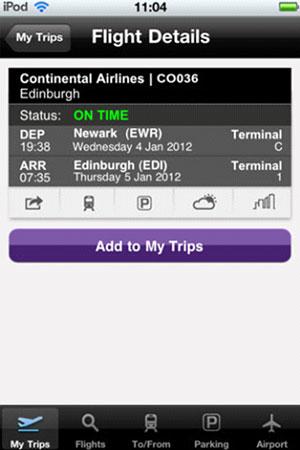 Edinburgh Airport launches mobile app