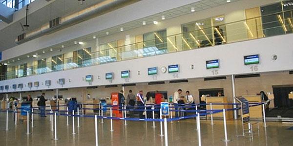 Tallinn Airport check in.