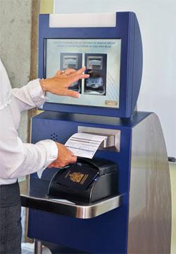 Montréal-Trudeau Airport automated border control kiosk