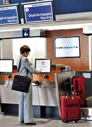 Westjet Montréal-Trudeau Airport Bag Drop