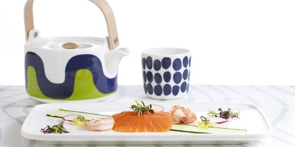 A Marimekko tea set