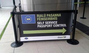 Dublin Airport installs self-service biometric gates