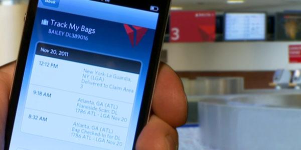 Delta Baggage Tracking App