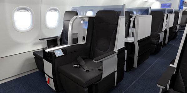 The new lie-flat seats