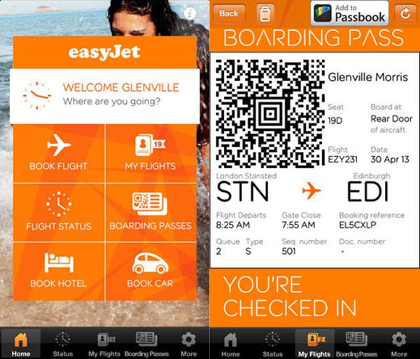 easyJet's mobile boarding app