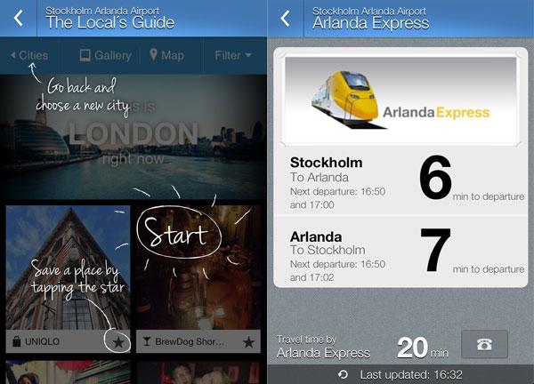 Swedavia app