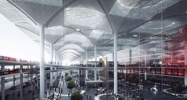 Terminal del nuevo aeropuerto de Estambul