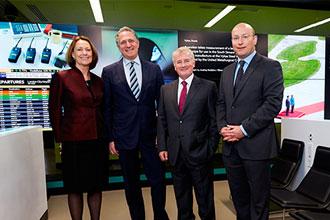 Digital, interactive Bloomberg Hub opens at London City Airport