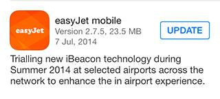 Easyjet beacons