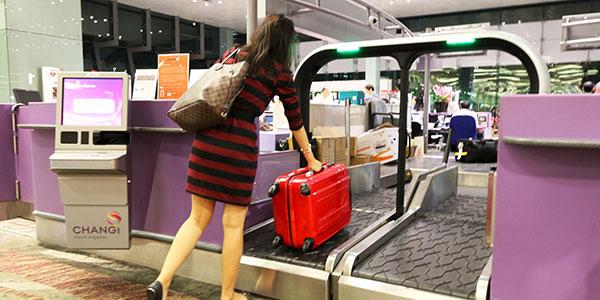 self-service processing at Changi Airport