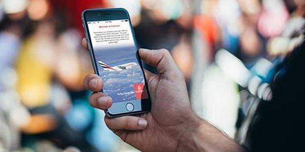 Emirates iPhone boarding passes