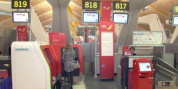 Aena, Iberia and Siemens self service