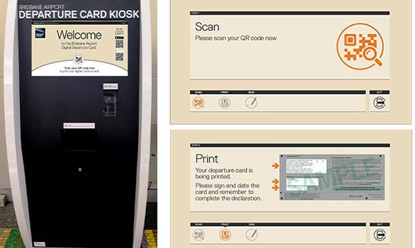 Brisbane Digital Departure Card