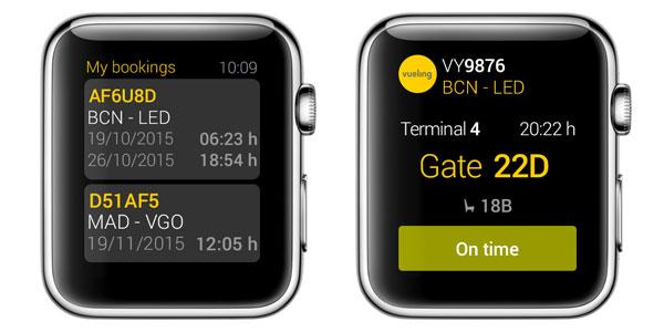 Vueling smartwatch app