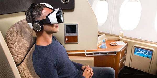 Qantas Samsung gear headsets