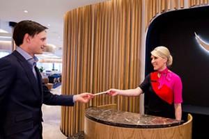 Perth Qantas business lounge