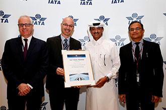 Qatar Airways' self-service efforts recognised with IATA Fast Travel Platinum Status