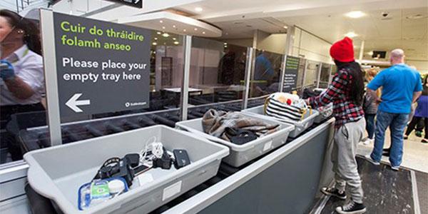 Dublin Airport automatic tray return
