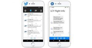 LCY launches Facebook Messenger flight info service