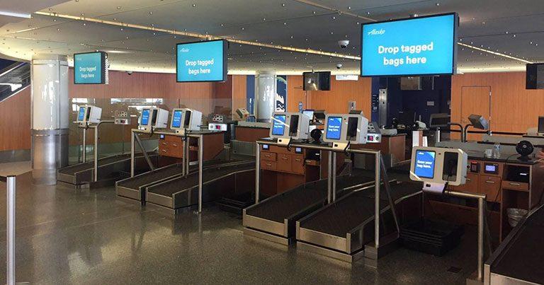 Alaska Airlines starts self-service bag drop pilot at LAX