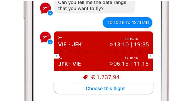 Austrian Airlines introduces Facebook Messenger virtual assistant