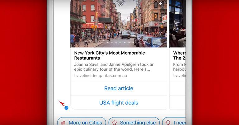 Qantas offers personalised travel inspiration with Qantas Concierge bot