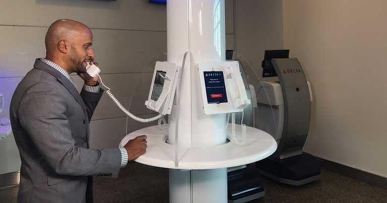 Delta trials video chat customer service at Washington National Airport