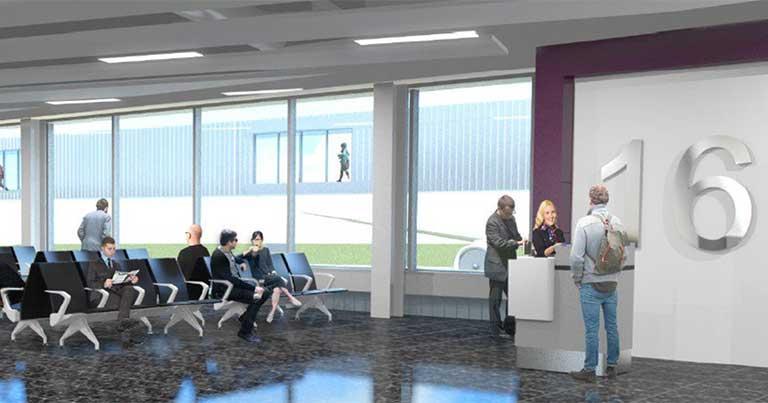 £80 million terminal extension project underway at Edinburgh Airport