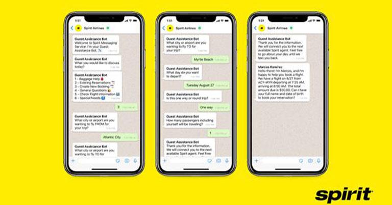 Spirit Airlines debuts WhatsApp flight booking service