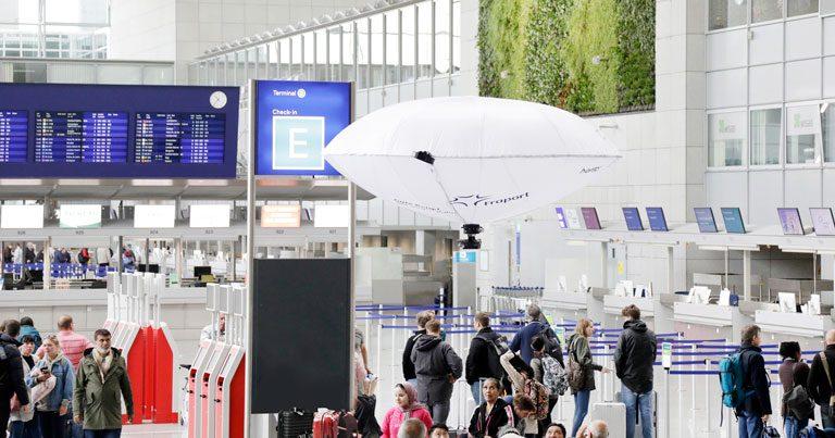 Frankfurt Airport tests hybrid aerial vehicle in passenger terminal