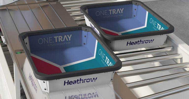 Heathrow Airport trials antibacterial security trays
