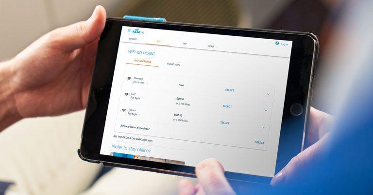 KLM introduces Wi-Fi on European flights