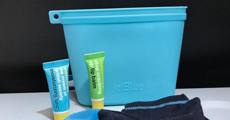 JetBlue launches reusable amenity kits on transatlantic flights