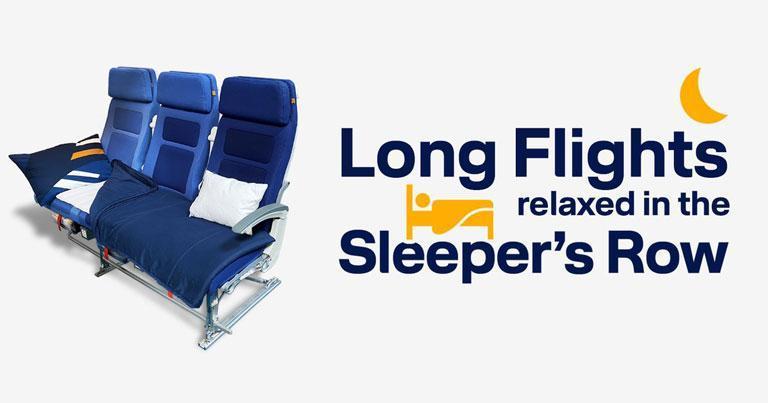 Lufthansa unveils new Sleeper's Row offer on long-haul flights