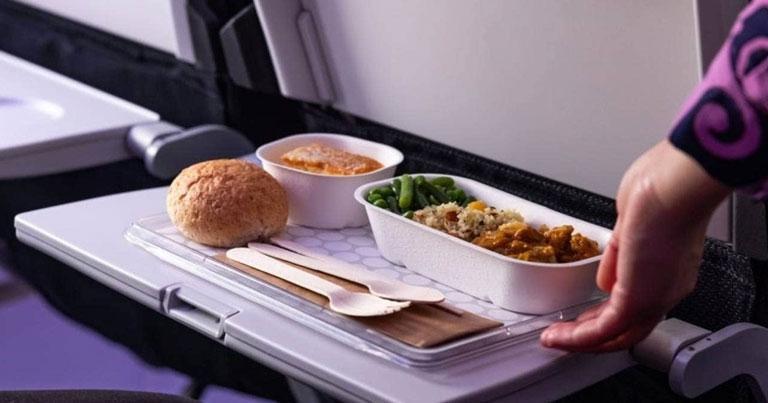 Air NZ trials eco-serviceware in bid to reduce plastic inflight